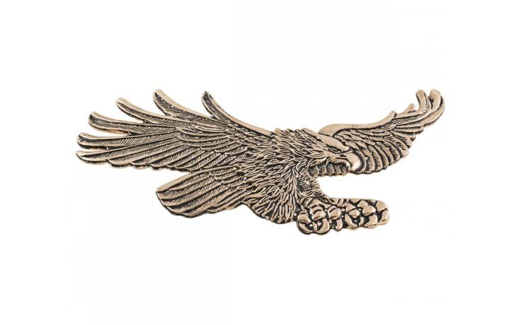 Gold Flying Curved Eagle Emblem