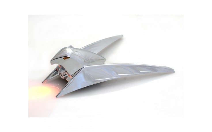 LED Lighted Chrome Front Fender Eagle