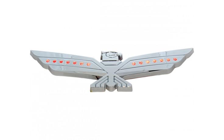 LED Red Lighted Chrome Eagle Emblem