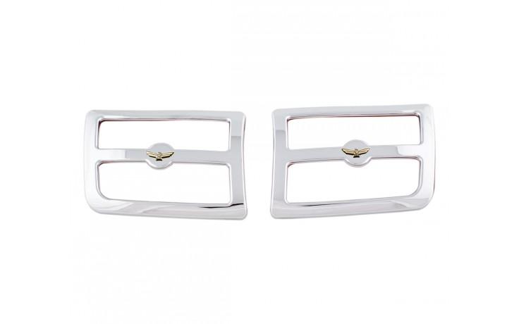 GL1800 01-05 Rear Chrome Speaker Grills w/Emblem