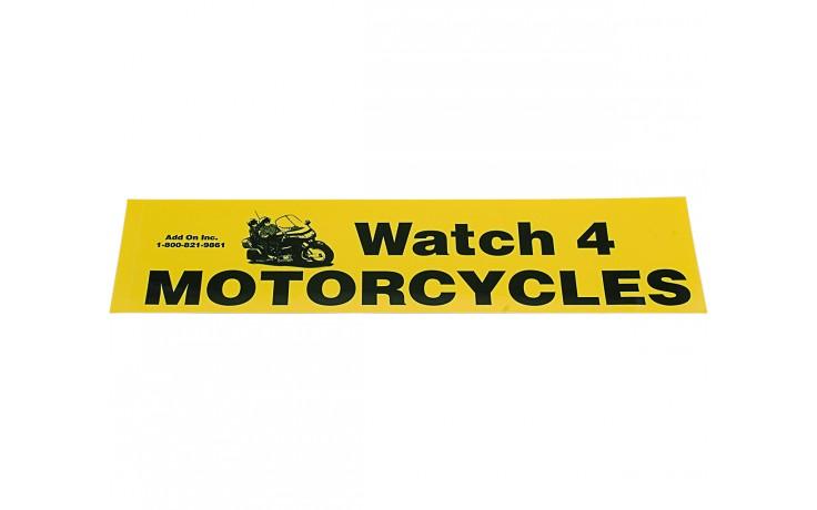 Bumper Sticker - Watch 4 Motorcycles (5-pack)