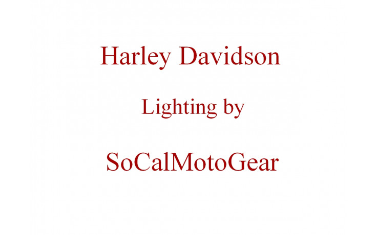 Harley Davidson Lighting By SoCalMotoGear