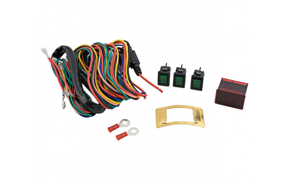 GL1800 01-17 Lighted Accessory Switch Kit with Voltmeter