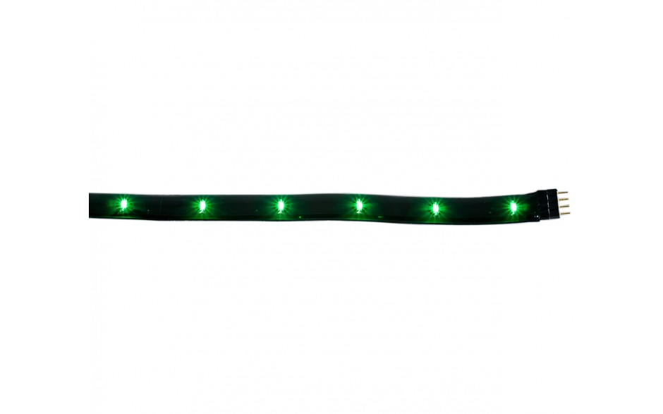 "Flexible Green LED Light 12"" Black Housing w/Connector"