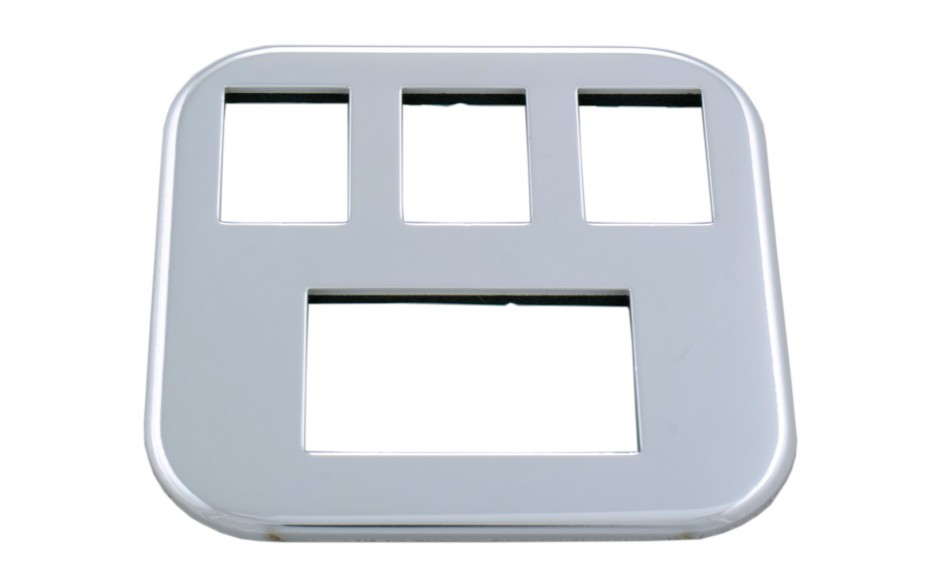 Chrome Insert for 3 Switches & Meter