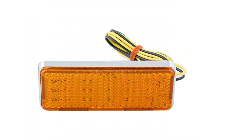 Amber LED Lighted Reflector