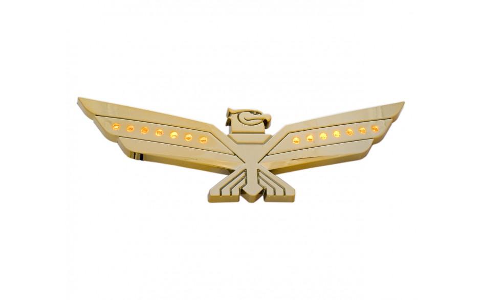 LED Amber Lighted Gold Eagle Emblem