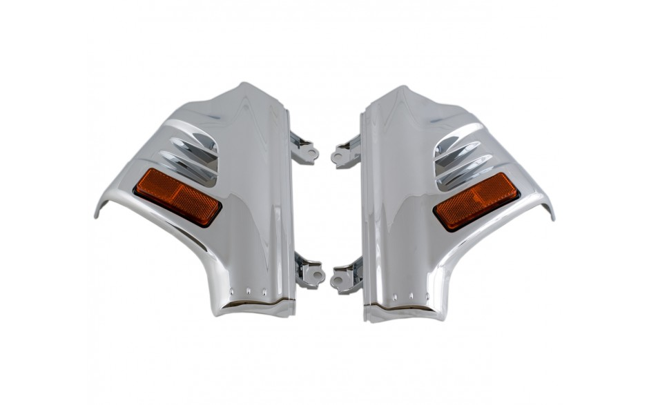 GL1800 01-17 Chrome Fork Covers Lighted