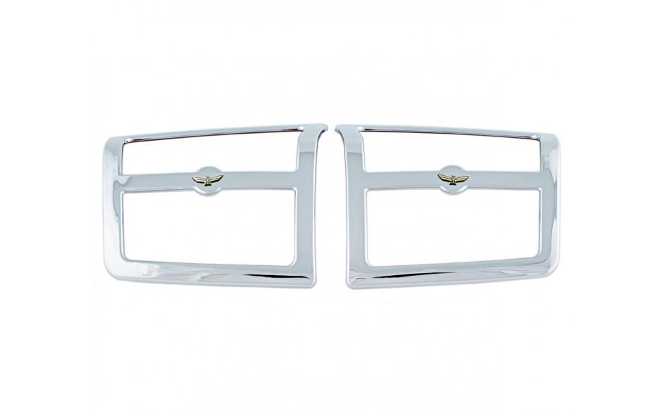 GL1800 06 & Up Rear Chrome Speaker Grills w/Emblem