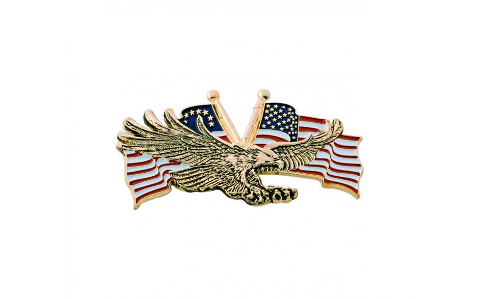 Gold Flying Eagle w/USA Flag
