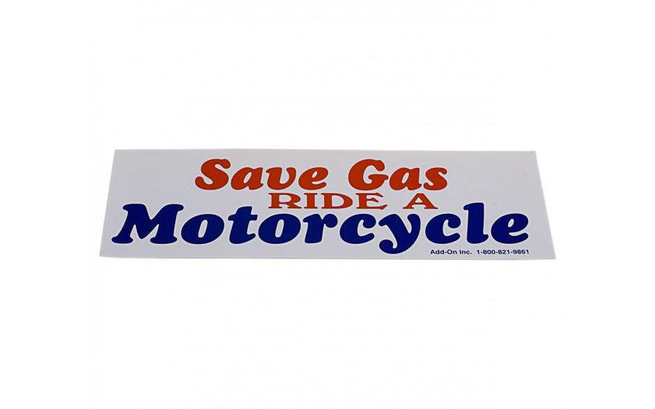 Bumper Sticker without Bike - Save Gas
