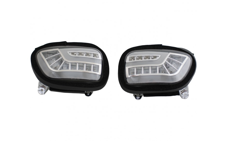 Dynamic-Sequential LED Front Indicators Lights with DRT - Clear