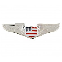 Chrome Wing w/USA Shield