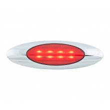 Oval Red LED Light