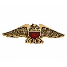 Gold Eagle Emblem w/Red Shield