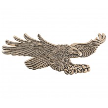 Gold Flying Curved Eagle Emblem