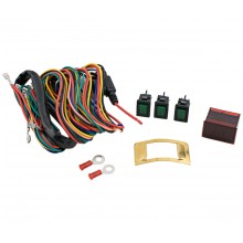 Economy Accessory Lighted Switch Kit with Voltmeter