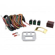 Economy Accessory Lighted Switch Kit w/Voltmeter and Plate