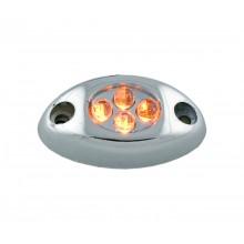 Amber 4 LED Courtesy Light