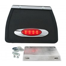 Trike Mud flap with Oval LED Light