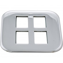 Chrome Insert Right Control Panel for 4 switches