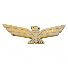 LED Amber Lighted Gold Eagle Emblem