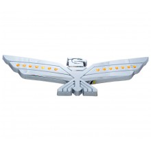 LED Amber Lighted Chrome Eagle Emblem