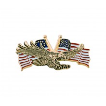 Gold Flying Eagle w/USA Flag