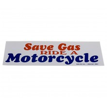 Bumper Sticker without Bike - Save Gas