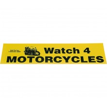 Bumper Sticker - Watch 4 Motorcycles (5-pack)