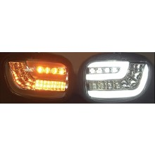 Dynamic-Sequential LED Front Indicators Lights with DRT - Smoke
